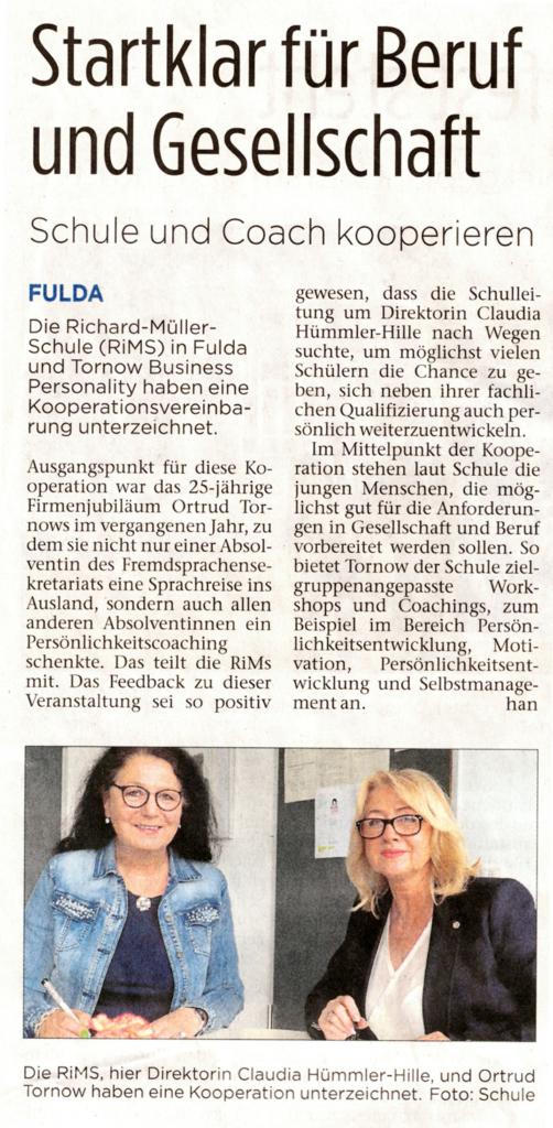 Kooperation mit der Richard-Müller-Schule Fulda